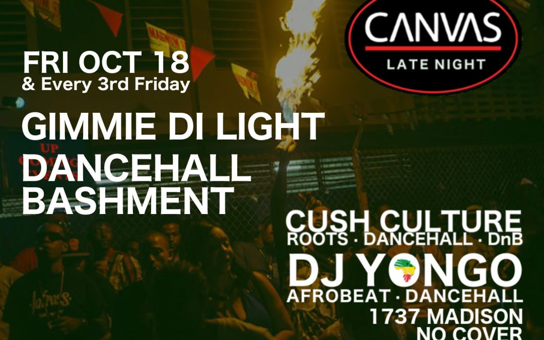 Canvas Friday Reggae Dancehall Bash